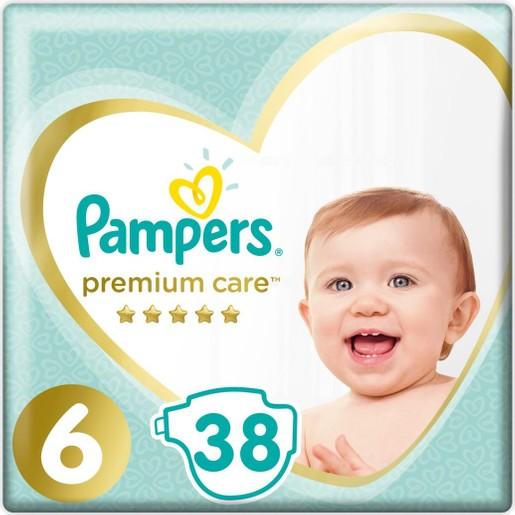 Pampers Premium Care No6 (13+kg) Πάνες 38 τεμάχια