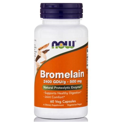Now Foods Bromelain Μπορεί να Βοηθήσει στην Υποστήριξη της Υγιούς Πέψεως 500mg 60caps