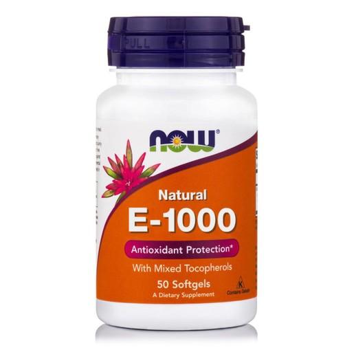Now Foods E-1000 Mixed Tocopherols Συμπλήρωμα Διατροφής, Βιταμίνη E Προστασία του Καρδιαγγειακού Συστήματος 50 softgels