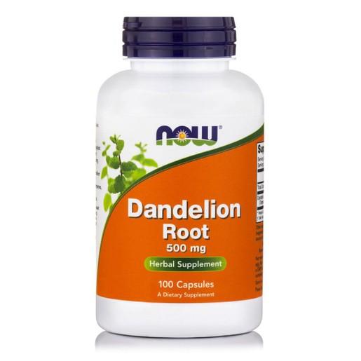 Now Foods Dandelion Root 500mg Συμπλήρωμα Διατροφής από Πικραλίδα για την Αποτοξίνωση του Ήπατος 100 Caps