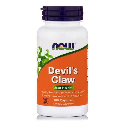 Now Foods Devil\'s Claw 500mg Συμπλήρωμα Διατροφής με Αντιφλεγμονώδεις Ιδιότητες, Ιδανικό για Μυϊκούς Πόνους 100 Caps