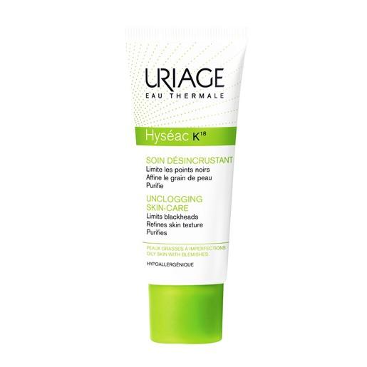 Uriage Eau Thermale Hyseac K18 Unclogging Skincare Αποφράσσει και Συσφίγγει τους Πόρους για πιο Διαυγές Δέρμα 40ml