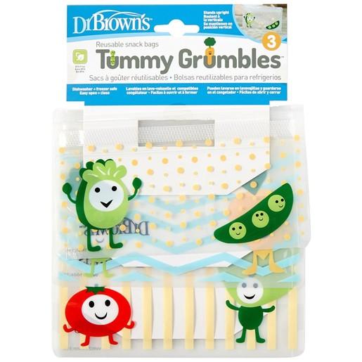 Dr Brown\'s Tummy Grumbles AC067 Σετ Σακουλάκια για Σνάκ 3 Τεμάχια
