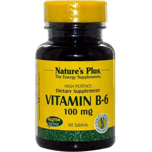 Nature\'s Plus Vitamin B-6 Πυριδοξίνη 90tabs