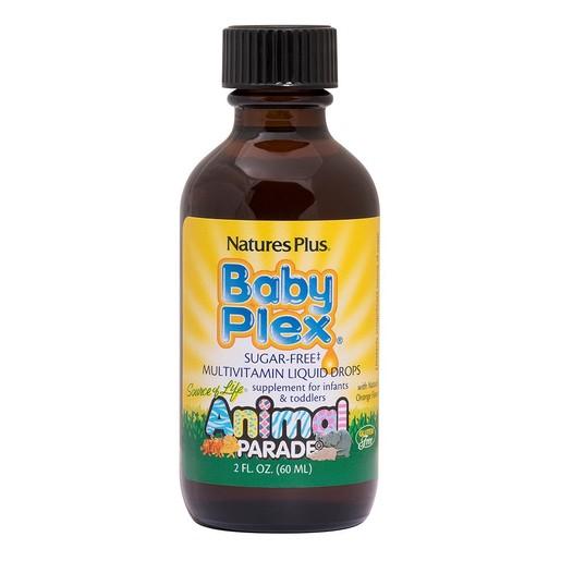 Nature\'s Plus Animal Parade Baby Plex Πολυβιταμινούχα Φόρμουλα σε Υγρή Μορφή, από 1 - 4 Ετών 60ml