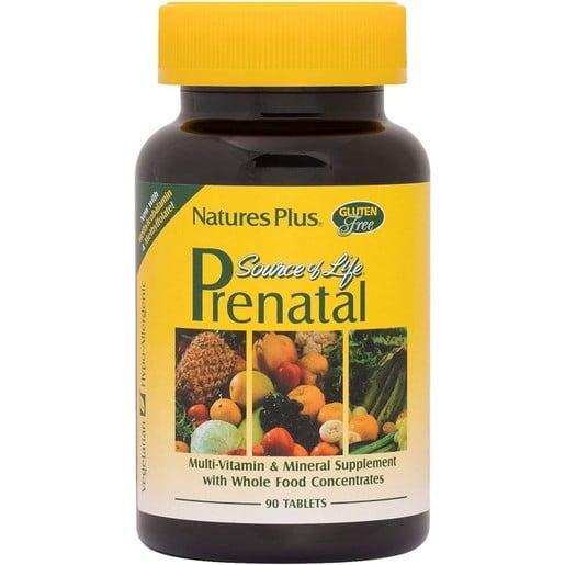 Nature\'s Pus Source of Life Prenatal Φόρμουλα Σχεδιασμένη για τις Ανάγκες των Γυναικών Κατά τη Διάρκεια της Εγκυμοσύνης 90tabs
