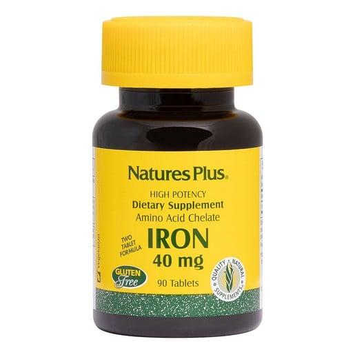 Nature\'s Plus High Potency Iron 40mg Συμπλήρωμα Διατροφής Σιδήρου 90 tabs