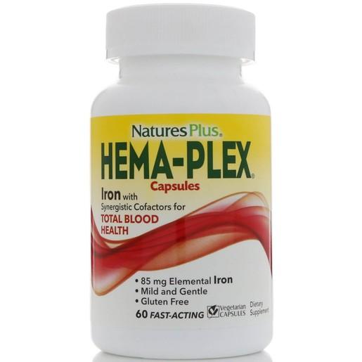 Nature\'s Plus Hema-Plex Συμπλήρωμα Διατροφής με Εξαιρετική Φόρμουλα για τη Βελτίωση της Ποιότητας του Αίματος 60caps