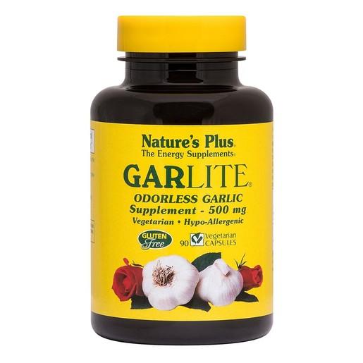 Nature\'s Plus Garlite 500mg Συμπλήρωμα Διατροφής από Συμπυκνωμένο Άοσμο Σκόρδο 90 caps