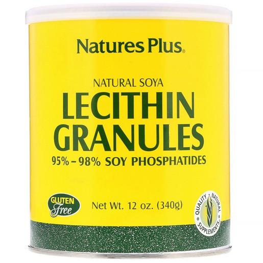 Nature\'s Plus Lecithin Granules Φυσική Λεκιθίνη Σόγιας σε Κόκκους 340 gr