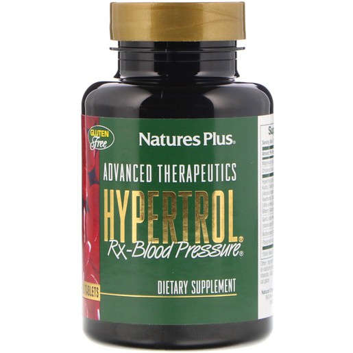 Nature\'s Plus Hypertrol Συμπλήρωμα Διατροφής για Διατήρηση Υγιής Αρτηριακής Πίεσης 60tabs
