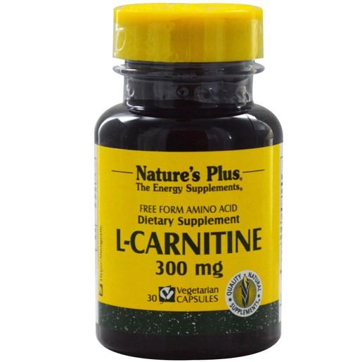 Nature\'s Plus L Carnitine 300mg Συμπλήρωμα Καρνιτίνης 30caps