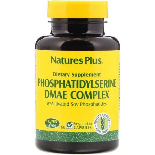 Nature\'s Plus Phosphatidyl Serine DMAE Complex Φόρμουλα για τη Βελτίωση των Εγκεφαλικών Λειτουργιών 60 vcaps