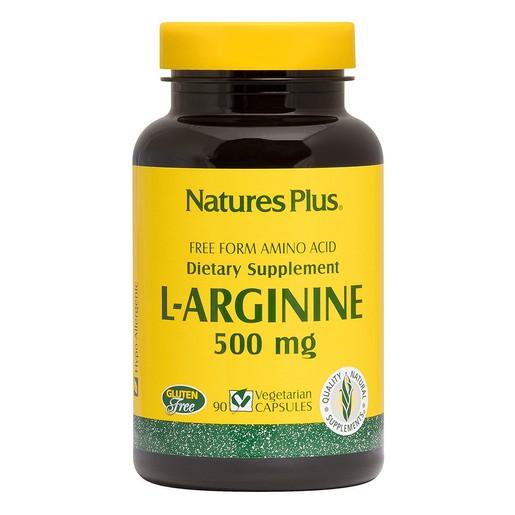 Nature\'s Plus L Arginine 500 mg Συμπλήρωμα Διατροφής με Αργινίνη 90caps