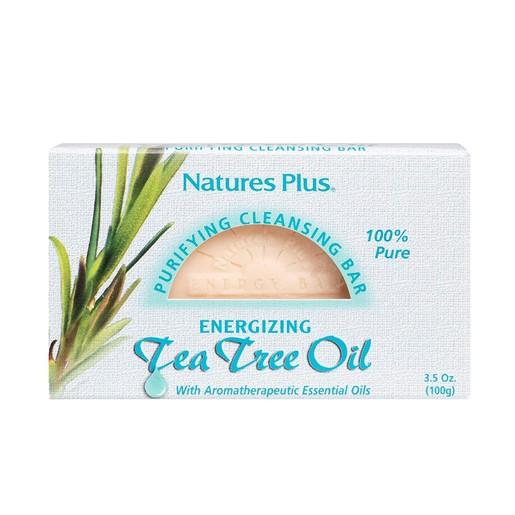 Natures Plus Tea Tree Oil Cleansing Bar Αντιβακτηριακό Αντισηπτικό Σαπούνι με Αιθέριο Έλαιο Τεϊόδεντρου 100gr