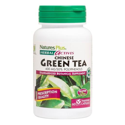 Nature\'s Plus Nature\'s Plus, Green Tea (Chinese) 400 mg Συμπλήρωμα από Πράσινο Τσάι με Αντιοξειδωτικές Ιδιότητες 60caps