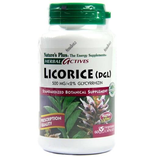 Nature\'s Plus Licorice (DGL) 500 mg Συμπλήρωμα Διατροφής με Εκχύλισμα Licorice με Αντιοξειδωτικές Ιδιότητες 60caps