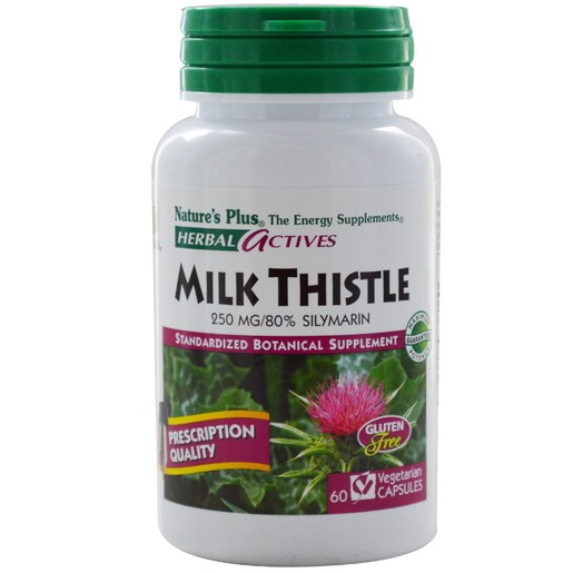 Nature\'s Plus Herbal Actives Milk Thistle 250mg Συμπλήρωμα Διατροφής με Γαιδουράγκαθο για Προστασία του Ήπατος 60caps