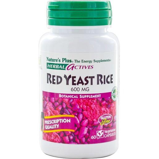 Natures Plus Red Yeast Rice 600mg Συμπλήρωμα Διατροφής από Μαγιά Κόκκινου Ρυζιού για Υποστήρίξη του Καρδιαγγειακού 60caps