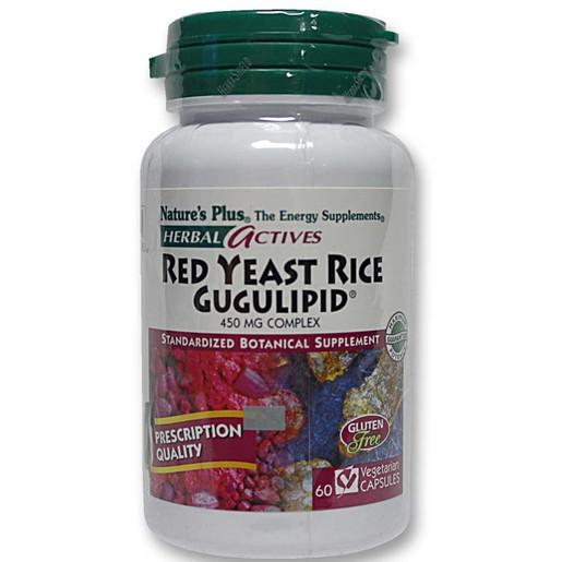 Nature\'s Plus Red Yeast Rice Gugulipid 450mg Συμπλήρωμα από Μαγιά Κόκκινου Ρυζιού για Υποστήρίξη του Καρδιαγγειακού 60caps