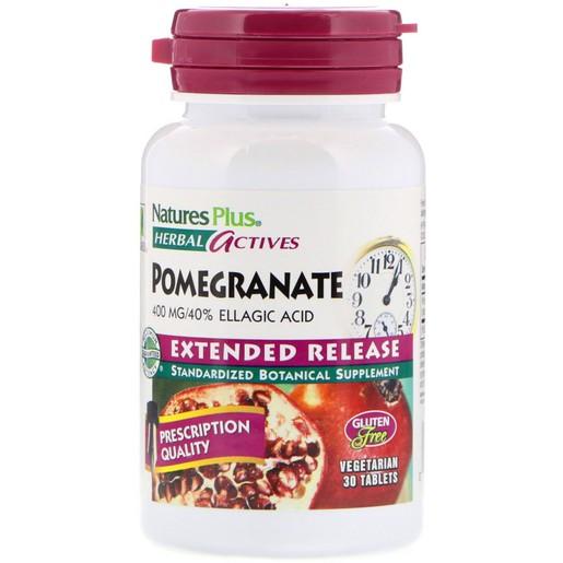 Nature\'s Plus Pomegranate Συμπλήρωμα Διατροφής με Ρόδι για την Προστασία του Καρδιαγγειακού Συστήματος 400mg 30 tabs