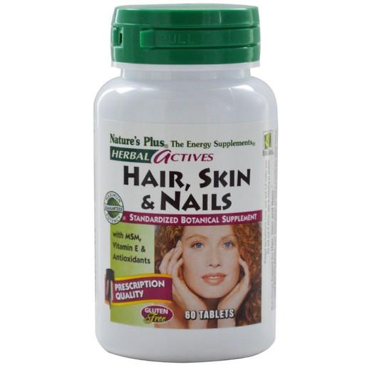 Nature\'s Plus Hair, Skin & Nails Συμπλήρωμα Διατροφής για την Υγεία Μαλλιών, Δέρματος & Νυχιών 60tabs
