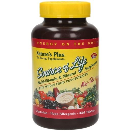 Nature\'s Plus Source Of Life Συμπλήρωμα Διατροφής για Τόνωση & Ενέργεια του Οργανισμού 90 Mini Tabs
