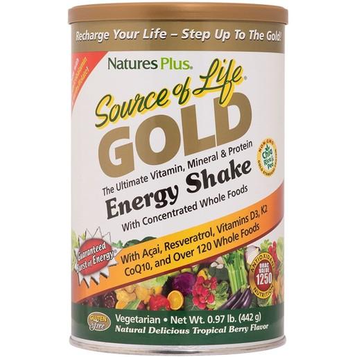 Nature\'s Plus Source of Life Gold Shake Πολυβιταμινούχο Συμπλήρωμα Διατροφής 442 gr