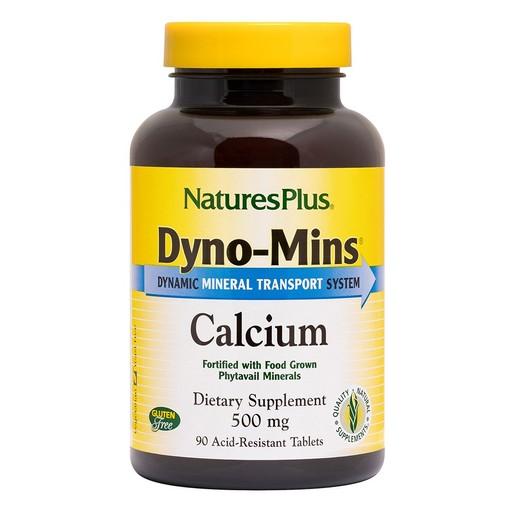 Nature\'s Plus Dyno-Mins Calcium 500mg Συμπλήρωμα Διατροφής για την Επίτευξη Ιδανικής Οστικής Πυκνότητας 90 Tablets