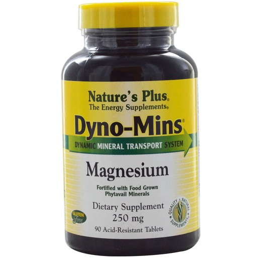 Nature\'s Plus Magnesium Dyno-Mins 250mg Συμπλήρωμα Διατροφής Μαγνήσιο, Κατάλληλο για την Υγεία του Νευρικού Συστήματος 90Tabs