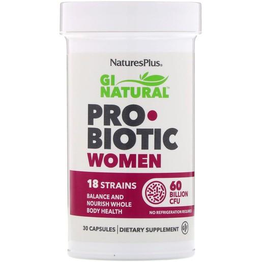 Natures Plus Gi Natural Probiotic Women Συμπλήρωμα Προβιοτικών για την Σωστή Λειτουργία του Γυναικείου Οργανισμού 30caps