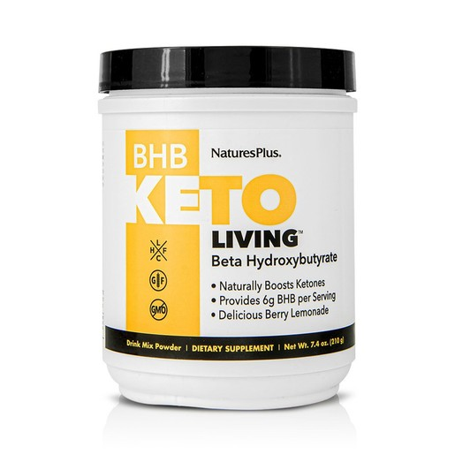 Nature\'s Plus KetoLiving BHB Συμπλήρωμα Διατροφής Κετονών για Βέλτιστη Μεταβολική Κατάσταση 210gr