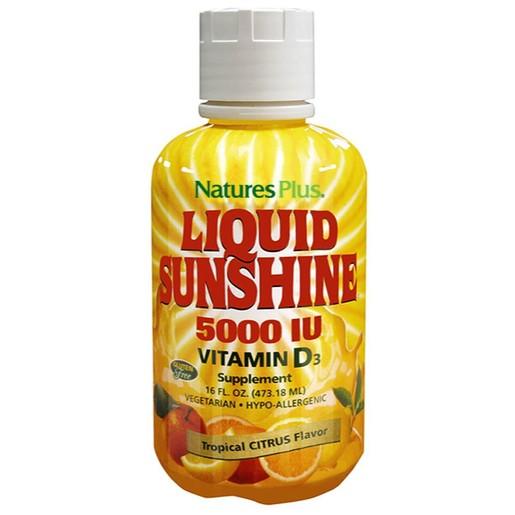 Nature\'s Plus Liquid Sunshine 5000 IU Vitamin D3 Συμπλήρωμα Διατροφής για την Υγεία των Οστών & των Δοντιών 473ml