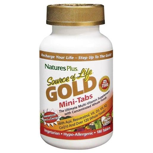 Nature\'s Plus Source Of Life Gold Πολυβιταμινούχο Συμπλήρωμα Διατροφής 180 Mini Tabs