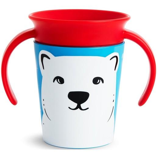 Munchkin Miracle 360° Trainer Cup 6m+ Polar Bear Εκπαιδευτικό Κύπελλο με Λαβές Πολική Αρκούδα, 177ml