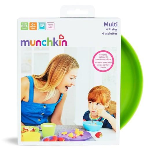 Munchkin 4PK Modern Multi Plates Πιάτα Φαγητού Κατάλληλα για το Φούρνο Μικροκυμάτων 4τμχ