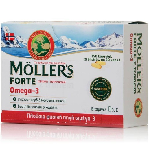 Moller's Forte Μουρουνέλαιο 150 Κάψουλες