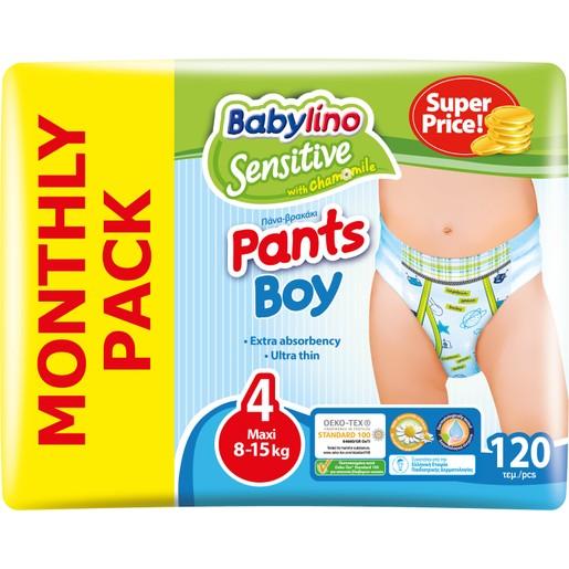 Babylino Πακέτο Προσφοράς Sensitive Pants Boy Maxi No4 (8-15kg) 6x20 πάνες