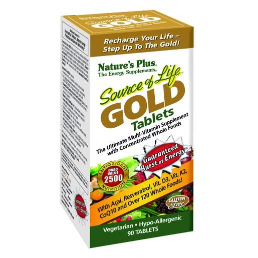 Nature\'s Plus Source Of Life Gold Πολυβιταμινούχο Συμπλήρωμα Διατροφής 90 Tabs