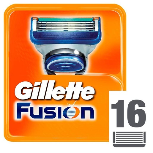 Gillette Πακέτο Προσφοράς Fusion Ανταλλακτικά 16 Τεμάχια