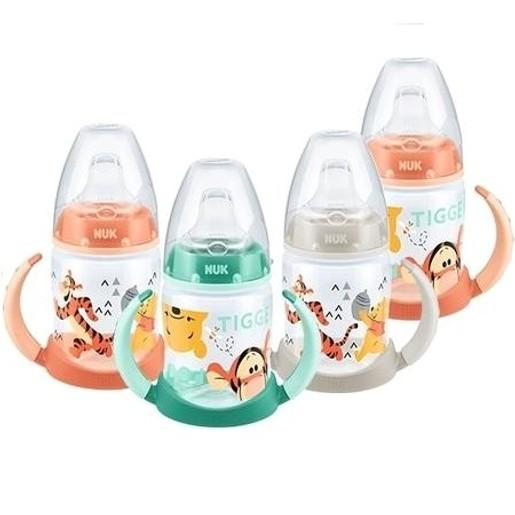 Nuk First Choice Plus Disney Winnie the Pooh Μπιμπερό PP με Λαβές 6-18m με Ρύγχος Σιλικόνης 150ml