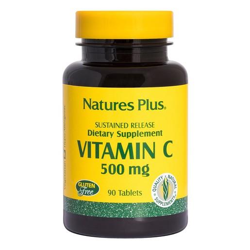 Nature\'s Plus Vitamic C 500mg Συμπλήρωμα Διατροφής για Ενίσχυση του Ανοσοποιητικού 90 tabs