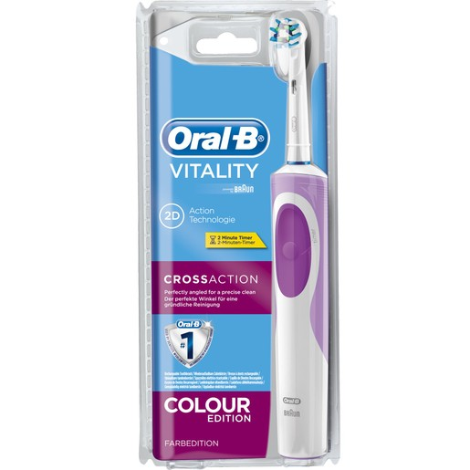 Oral-B Vitality 2D Cross Action Colour Pink Edition Ηλεκτρική Οδοντόβουρτσα