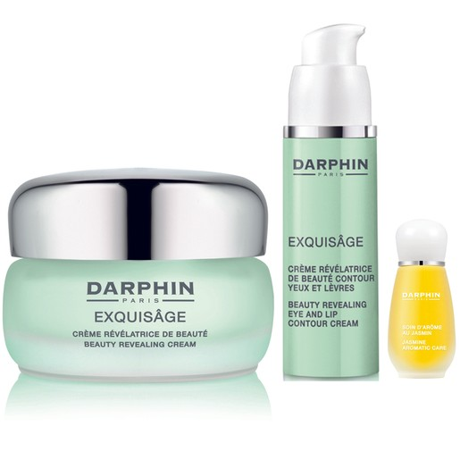 Darphin Holiday Set Exquisage Cream 50ml, Eye & Lip Contour Cream 15ml & Organic Aromatic Care Jasmine 4ml