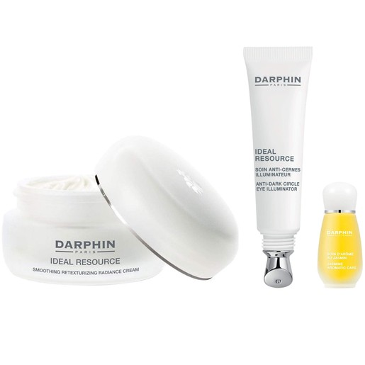 Darphin Xmas Set Ideal Resource Smoothing Radiance Cream 50ml, Anti Dark Circle Eye Illuminator 15ml &Aromatic Care Jasmine 4ml