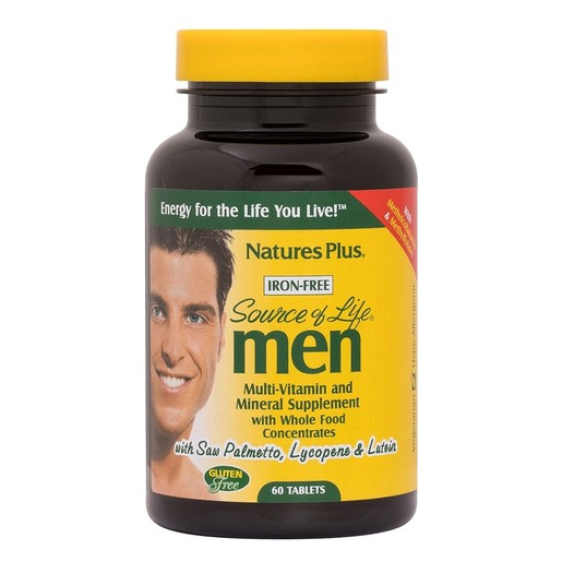 Natures Plus Men Multi-Vitamin Πολυβιταμινούχος Φόρμουλα Αποκλειστικά για \'Ανδρες 60tabs