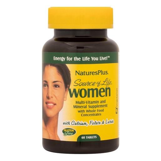 Natures Plus Women Multi-Vitamin Συμπλήρωμα Διατροφής Ειδικά Σχεδιασμένο για το Γυναικείο Οργανισμό 60tabs