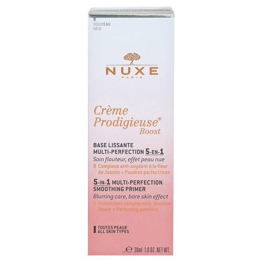 Nuxe Creme Prodigieuse Boost 5in1 Multi-Perfection Smoothing Primer Διορθώνει Σημάδια που Προκαλεί ο Σύγχρονος Τρόπος Ζωής 30ml