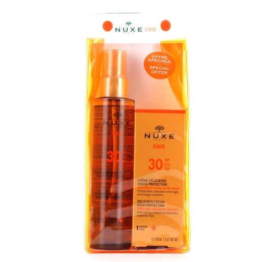 Nuxe Πακέτο Προσφοράς Sun Huile Bronzante Spf30, 150ml & Sun Face Cream Spf30, 50ml