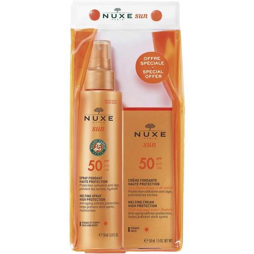 Nuxe Πακέτο Προσφοράς Sun Milky Spray Fondant Haute Protection Spf50, 150ml & Nuxe Sun Face Cream Spf50, 50ml